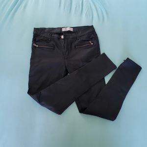 Skinny pleather stretchy jeans